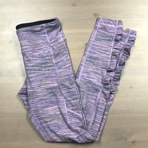 Lululemon leggings with ankle ruching. Worn once!